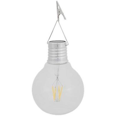 Lampa ŻARÓWKA solarna ogrodowa LED wisząca RETRO