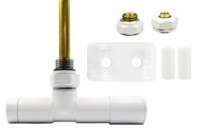 Regulačný ventil Unico 50 mm biely + spojky PEX + rozety vpravo