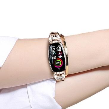 Zegarek BRANSOLETKA SmartWatch DAMSKI Ciśnienie