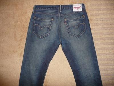 Spodnie dżinsy LEVIS 504 W34/L32=45,5/107cm jeansy