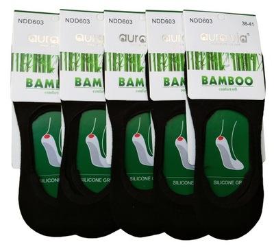 5x Skarpety mikro STOPKI mokasyny BAMBUSOWE 43-46