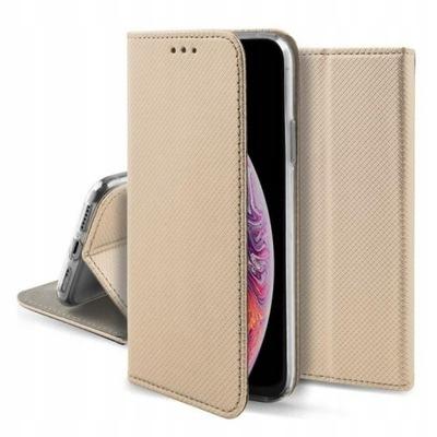 Etui z klapką LG K51s K41s SMART MAGNET złoty FLIP