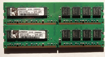 Pamięć 4GB (2x2GB) DDR2 PC2-6400 800MHz KINGSTON