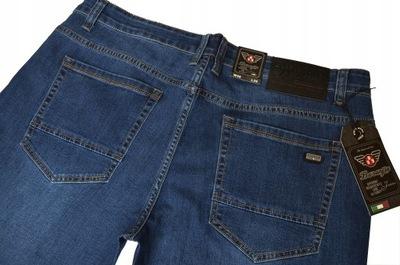 DŁUGIE spodnie jeans CLUBING pas 104-106cm W37 L34