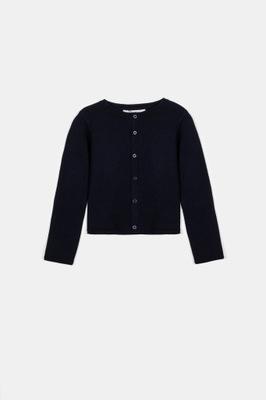 Granatowy dziewczęcy sweter 140 Coccodrillo