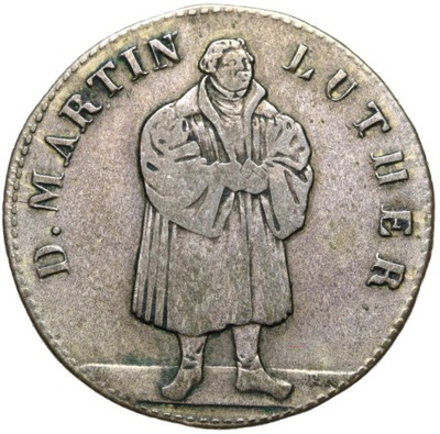 + Германия медаль 1830 МАРТИН ЛЮТЕР Augsburg серебро
