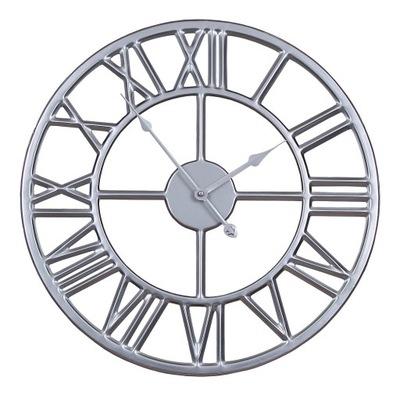 часы instagram серебро металлический чердак ретро 45см
