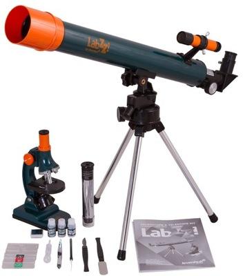 Zestaw Levenhuk MT2 z mikroskopem i teleskopem