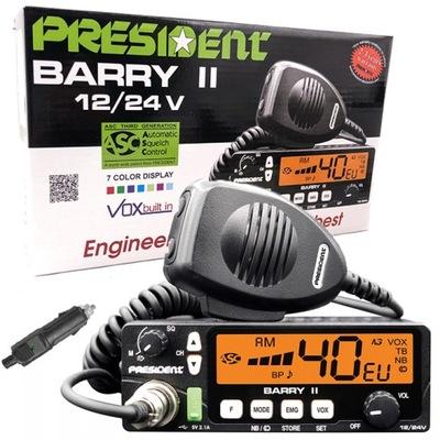 CB RADIO do TIR BUS PRESIDENT BARRY II 12V 24V NB