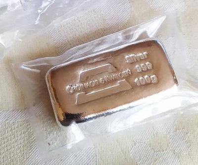 Sztabka srebra 100 g Chojnacki & Kwiecień