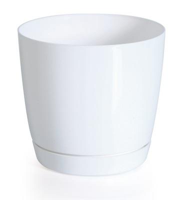 Doniczka z podstawką Coubi Round P DUOP155 biała
