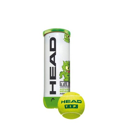 Piłki tenisowe juniorskie Head Green (3 szt.)