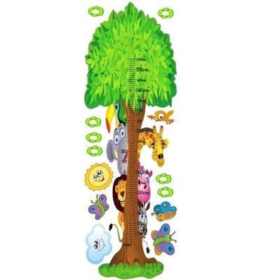 наклейка детей - мерка Рост - ЖИВОТНЫЕ 2