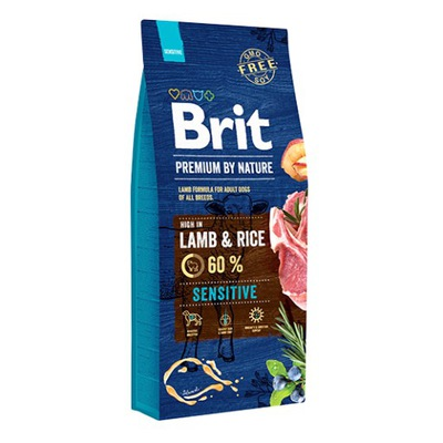 Brit премиум by Nature Sensitive Lamb Rice 15 кг