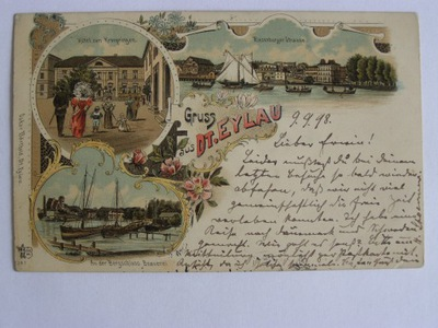 Iława Dt. Eylau browar Brauerei Ostróda 1898 sec.