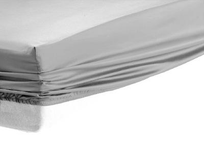 Prześcieradło z gumką satyna bawełniana 140x200 cm