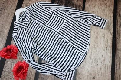 RESERVED * czarno biała bluzka koszulowa 42