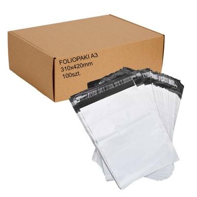 Foliopaki foliopak kurierskie, A3 310x420 100szt