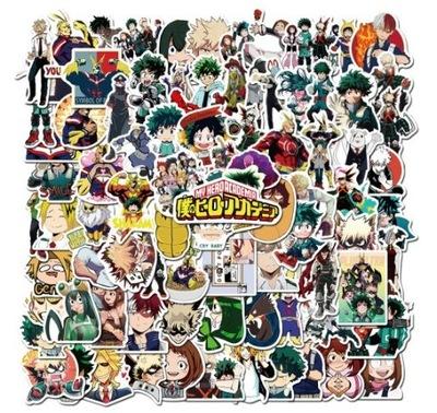 100 naklejek My Hero Academia Anime Graffiti