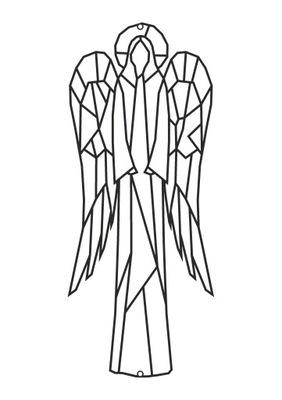 Dekoracja metalowa geometryczna Anioł D55 70 cm