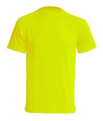 T-Shirt odblaskowy FLUO żółty r.L