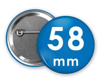 PRZYPINKI Butony Buttony PIN Badziki 58mm -500szt