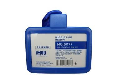 Etui Holder na kartę Smycz 85 x 54mm RFID 70 x 110