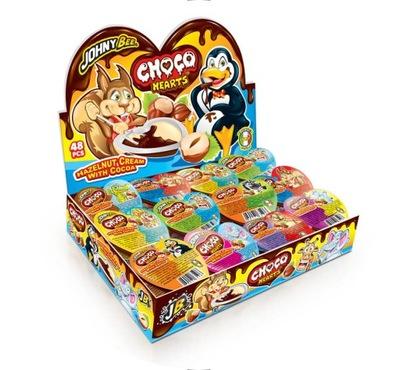 Choco Hearts Крем kakaowo - ореховый 48 штук