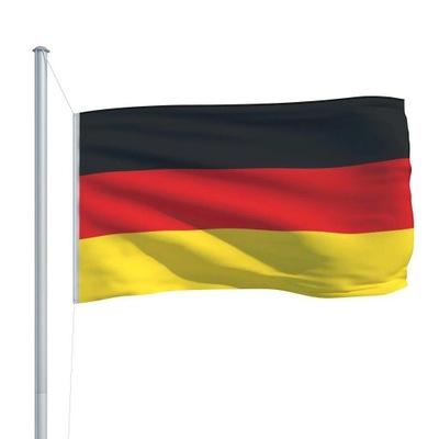 Flaga Niemiec Z Aluminiowym Masztem 6,2 m