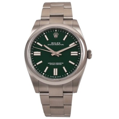 Rolex Oyster Perpetual Green Dial 41 mm ref 124300