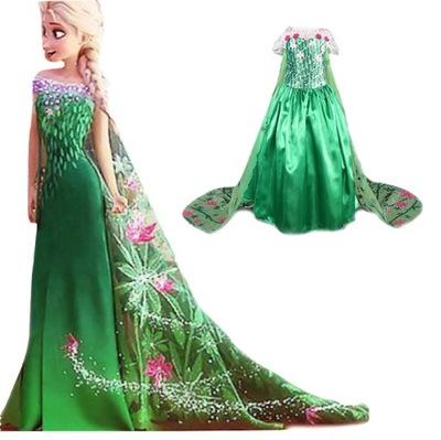 Sukienka kostium bal Elsa zielona Kraina Lodu 122