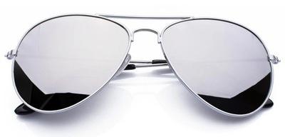 Okulary Pilotki Aviator Przeciwsłoneczne Lustrzane