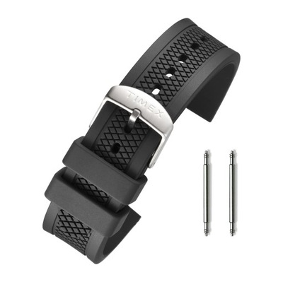 Pasek do zegarka 20mm guma Timex czarny teleskopy