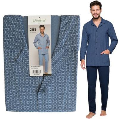 REGINA piżama męska rozpinana 265 niebieski