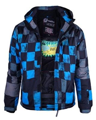 CHŁOPIĘCA KURTKA ZIMOWA FST P118 BLACK-BLUE _ 164