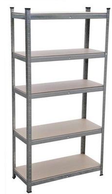 металлический стеллаж складской 180x90x40cm 5 полок