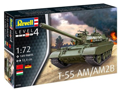 Revell 03306 T-55AM 1 :72 комплект МОДЕЛИСТА