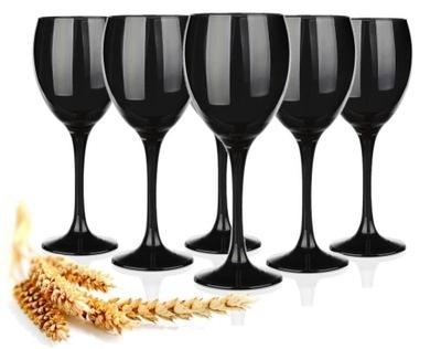 Бокал ??? вина Черный 300 мл 6 штук комплект