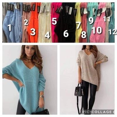 sweter asymetryczny kolory