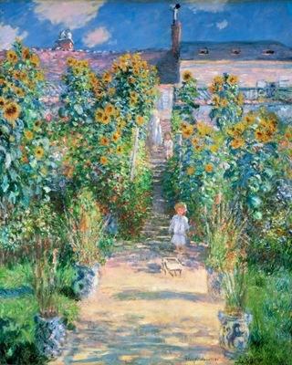 Claude Monet - Ogród artysty w Vetheuil - 50x40