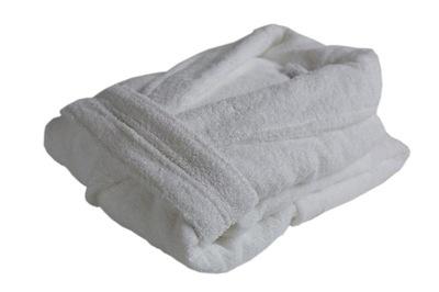 Szlafrok Damski Biały - 100% bawełna 420g - XL
