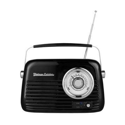 Chromowane radio z głośnikiem Vintage Cuisine