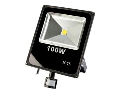 HALOGEN NAŚWIETLACZ LED 100W czujnik