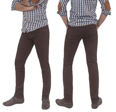Spodnie Męskie Bawełniane Jeansy 8110 84 cm brązow