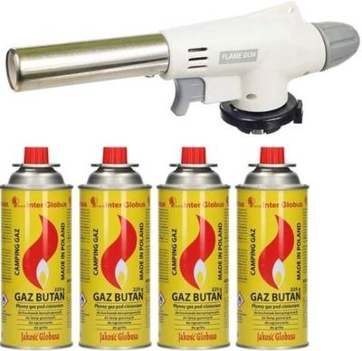 PALNIK GAZOWY CERAMICZNY KARTUSZ LUTLAMPA+4 GAZY (