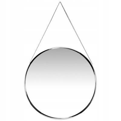Strieborné guľaté zrkadlo / kruh na retiazke, remienok 50