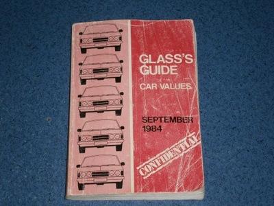 GLASS'S GUIDE CAR VALUES 1984 KALALOG ОКНА