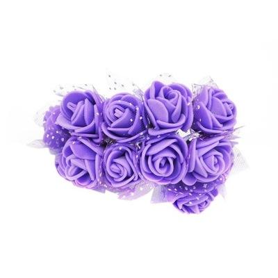розочки розочки пены с тюлем - 12шт. фиолетовый