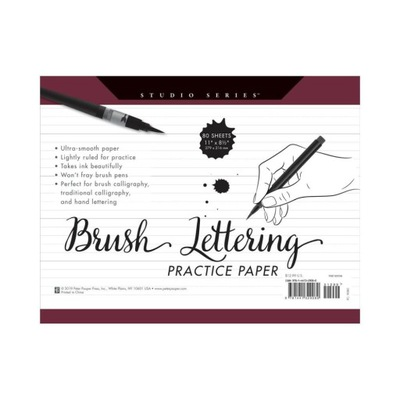 Blok do brushletteringu i kaligrafii Paper Pauper