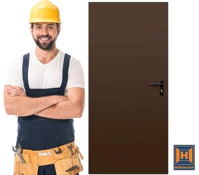 Drzwi Techniczne Brązowe Hormann ZK ISO 100cm